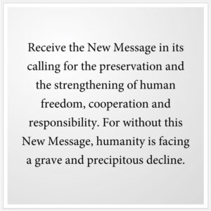 Receive the New Message from God
