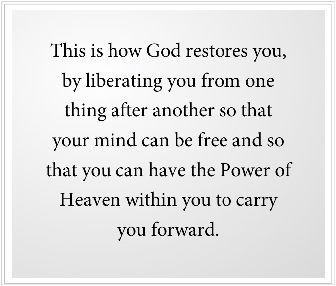 power of heaven to carry you