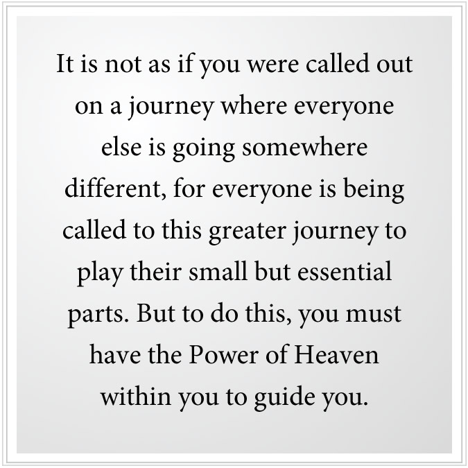 power of heaven to guide you